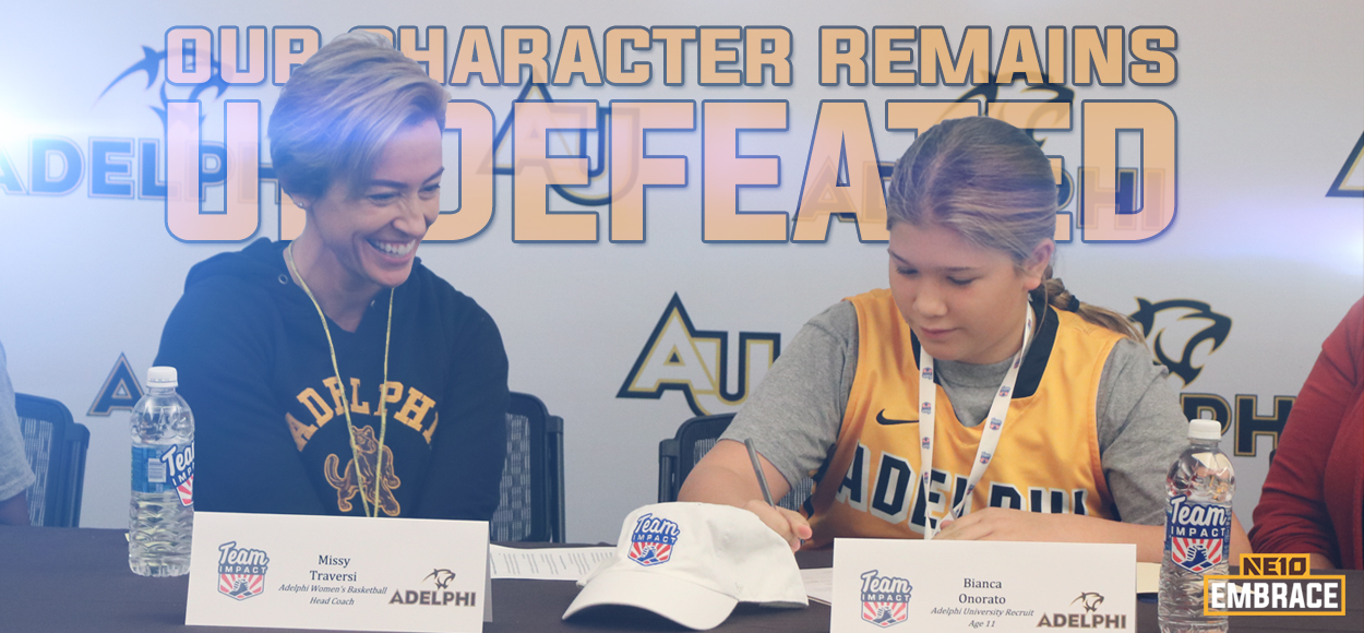 Embrace The Impact: Adelphi Women's Basketball Signs Bianca from Team IMPACT