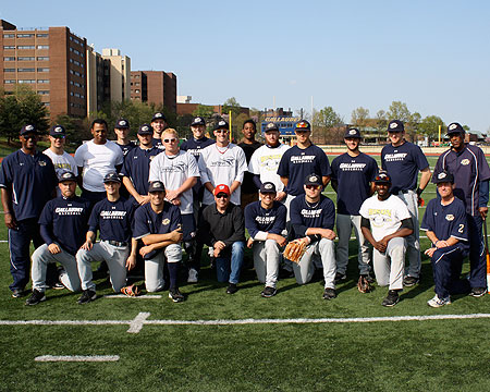 Gallaudet's baseball team with members of the WWAST