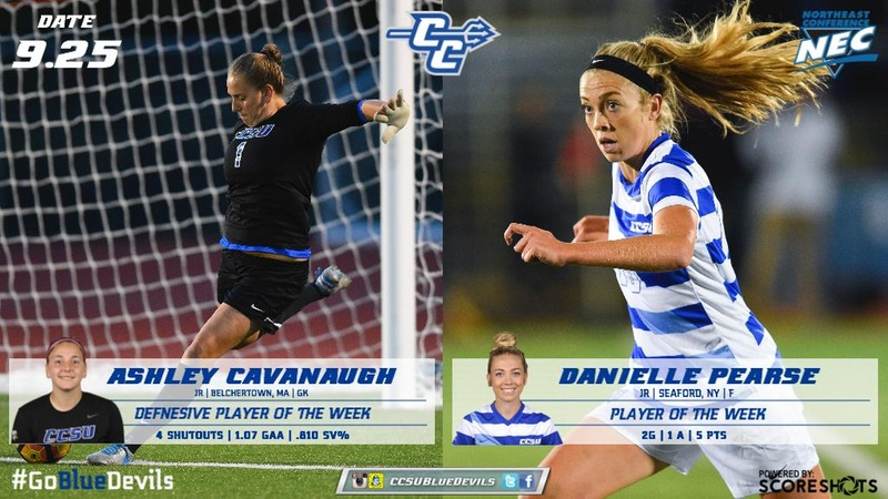 Cavanaugh, Pearse Reel in Northeast Conference Weekly Awards