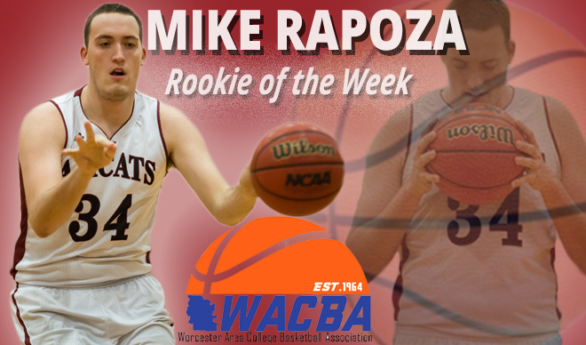 Rapoza Named WACBA Men's Basketball Rookie of the Week