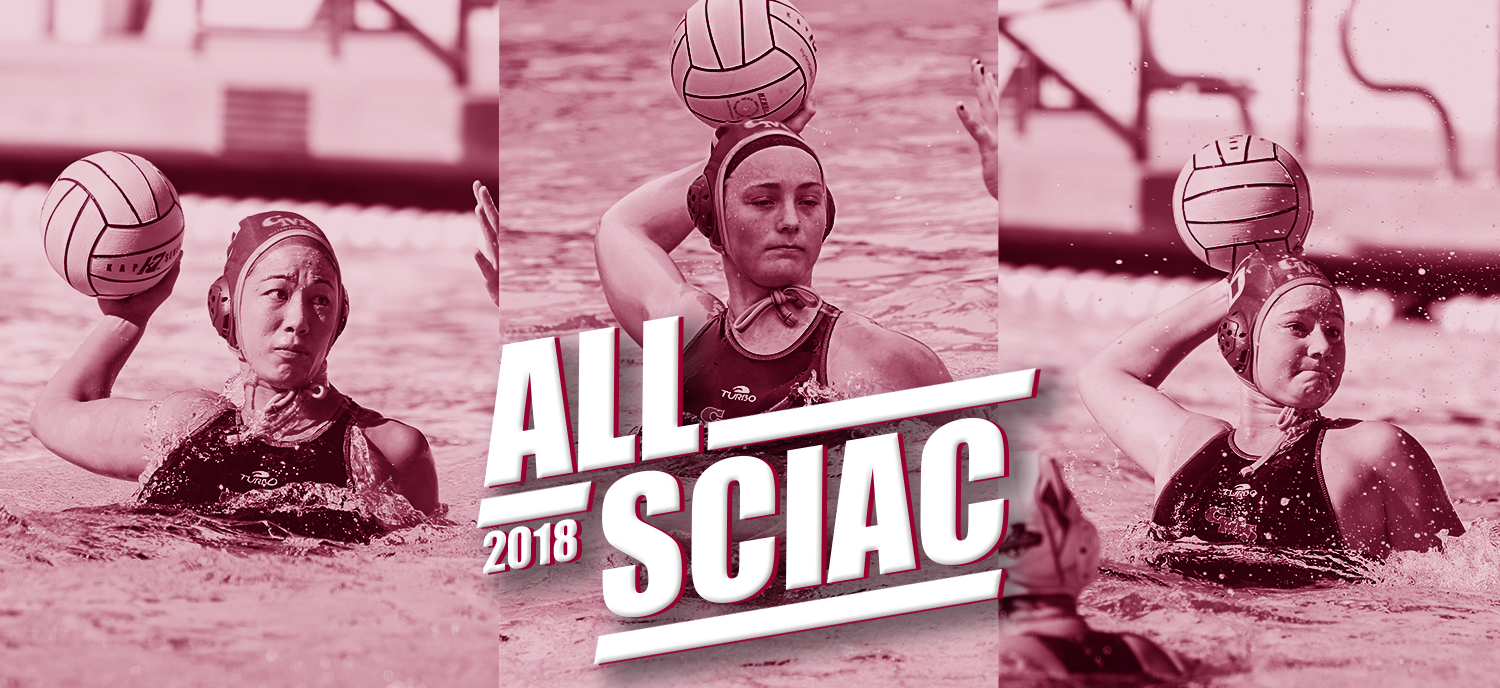 Kiessling (L), Aldrete (M), and Gaffney (R) earned All-SCIAC this season.