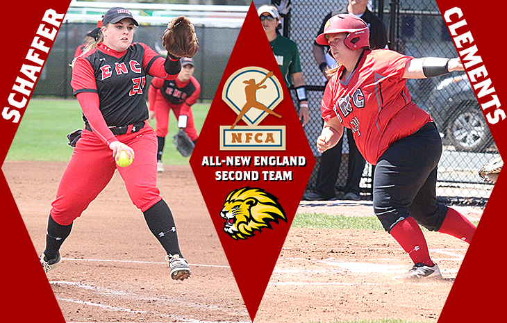Softball's Clements, Schaffer Tabbed to NFCA All-New England Second Team