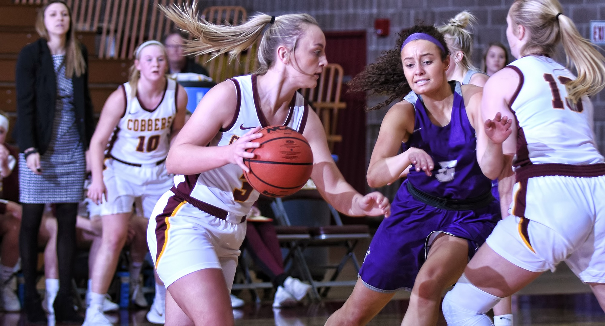 Sophomore Autumn Thompson had a career-high 23 points in the Cobbers' game at St. Catherine.