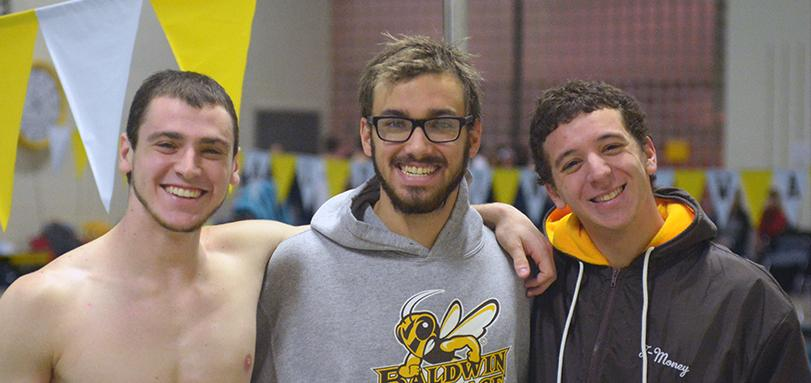 Seniors Jon Levin, Jacob Burk and Taylor Elgart
