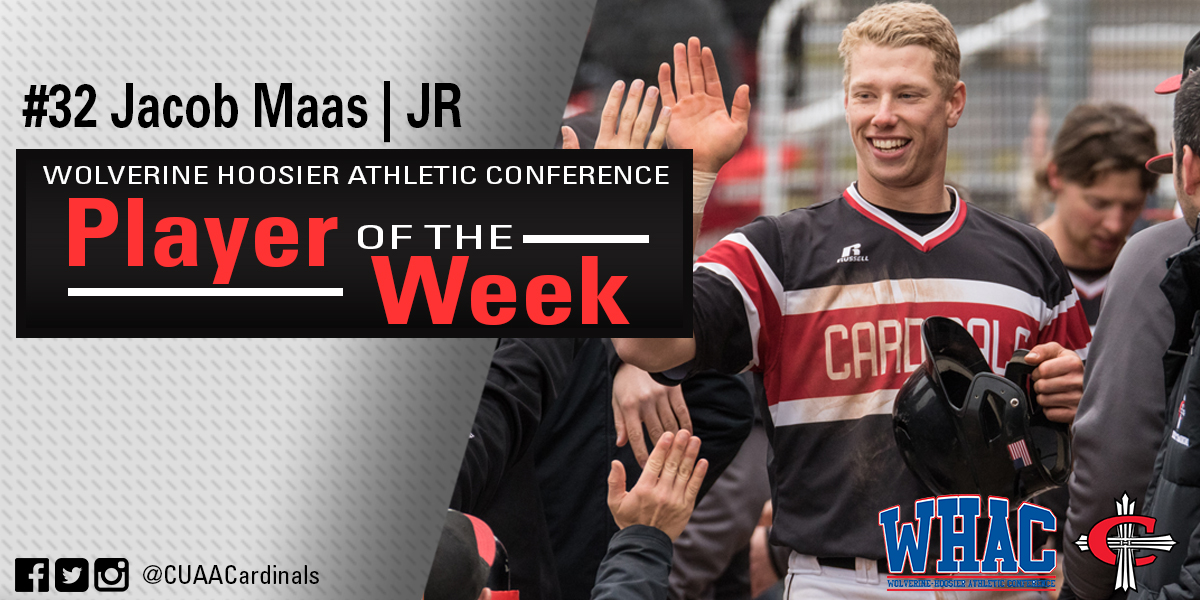 Jacob Maas earns WHAC honors for the third time this season