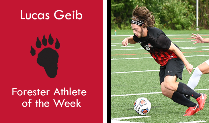 Lucas Geib Named Forester Athlete of the Week