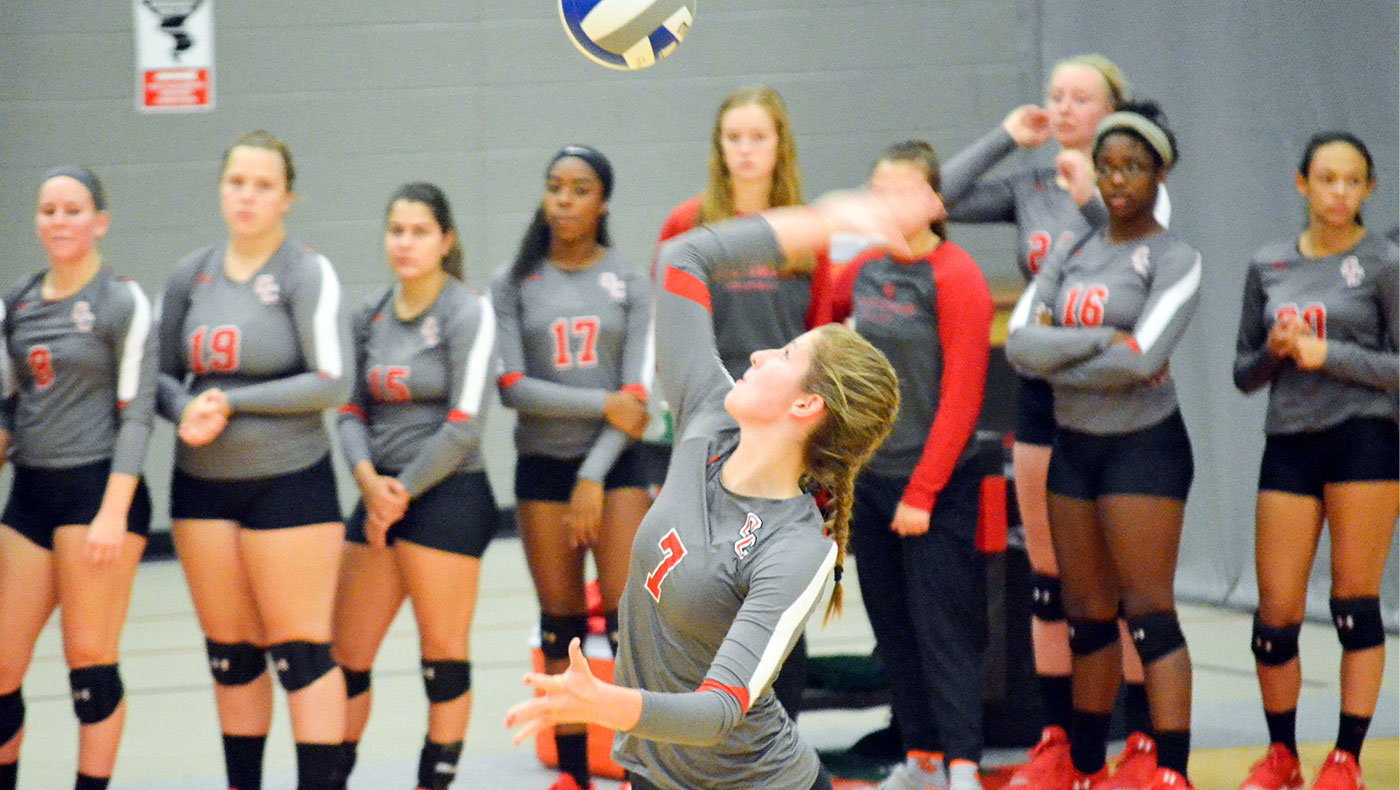 Women's volleyball team tripped up at Adrian