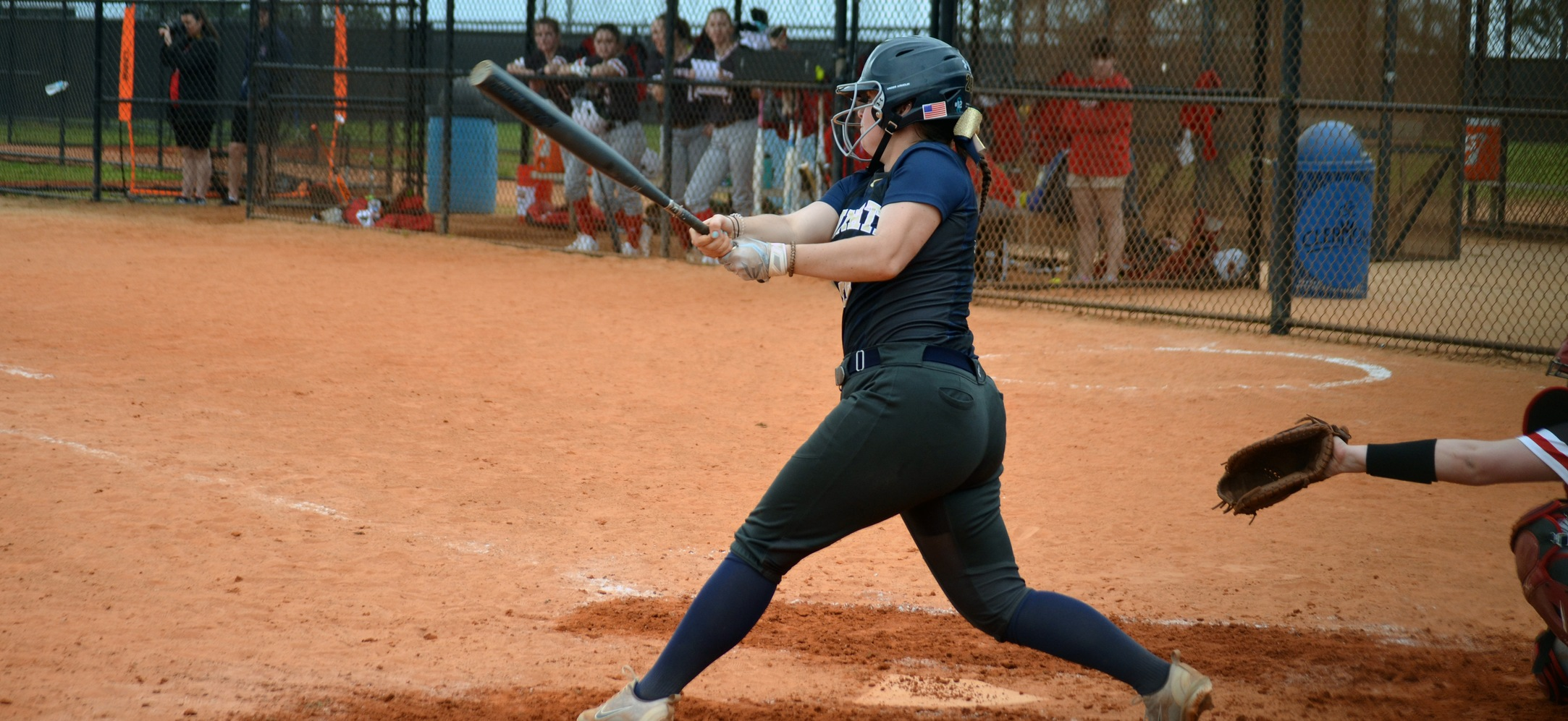 Ashley Clark went 1-1, with 2 RBI and a home run in the Eagles, 4-2 loss against St. Lawrence.