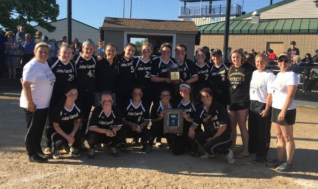 John Carroll prevails over Mount de Sales for A Conference softball title