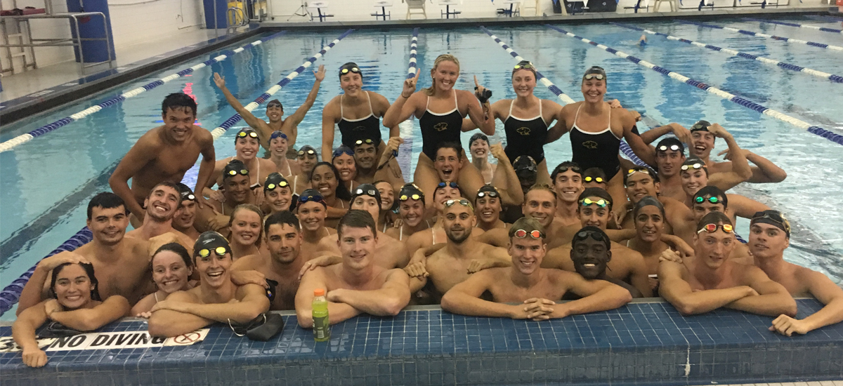 Swimming and Diving Has Strong Showing in Win Over Seton Hall