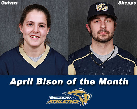 Gulvas, Shepps earn April Bison of the Month honors