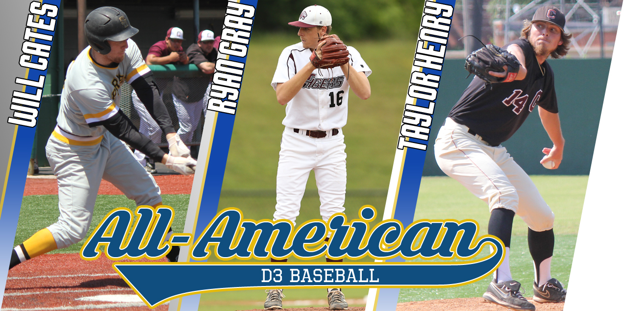Three SCAC Student-Athletes Selected to D3baseball.com All-America Team