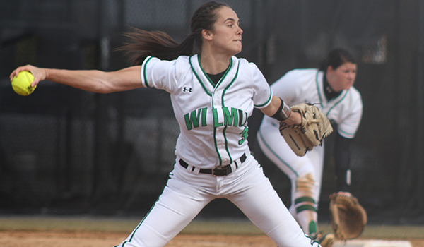 Botsch Strikes Out Career High as Wilmington Softball Sweeps Goldey-Beacom, 3-2 and 8-0, in Crosstown Matchup