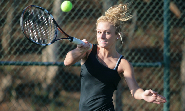 Bristol trio paces Tusculum Women's tennis to shutout at King
