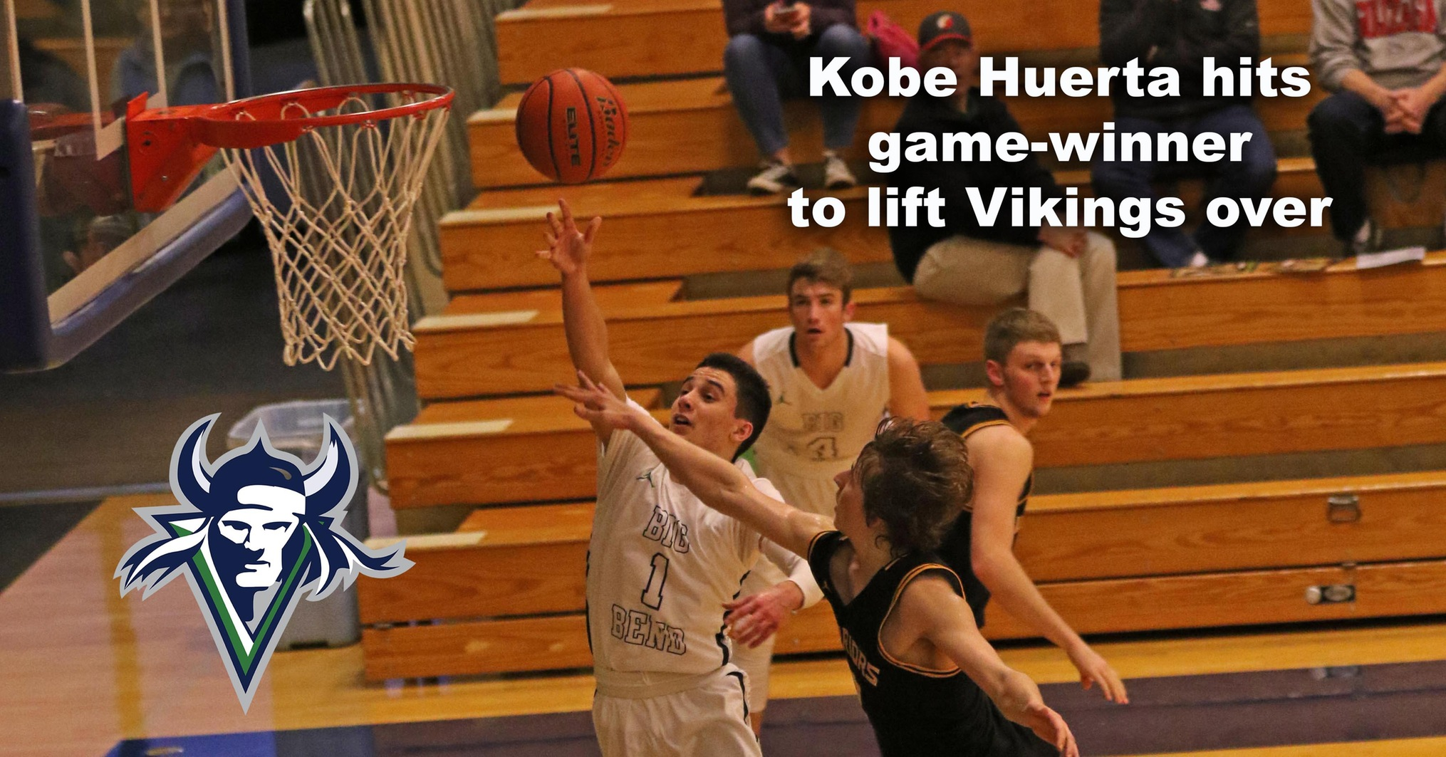 Runnin' Vikes point guard Kobe Huerta drives the lane against Walla Walla. He hit the game-winning 3-pointer against Yakima Valley Jan.24th.