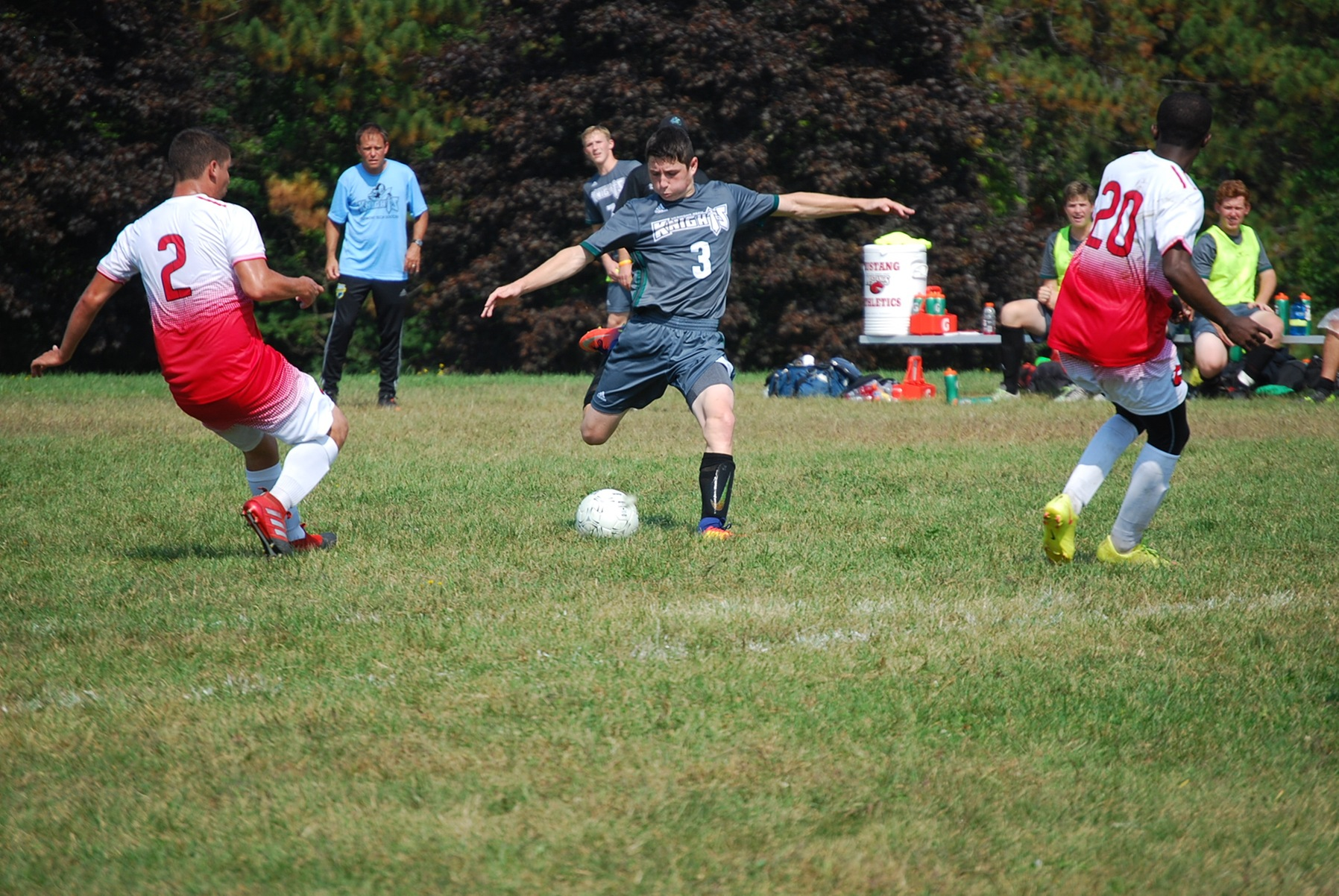 Knights men's soccer falls to Central Maine