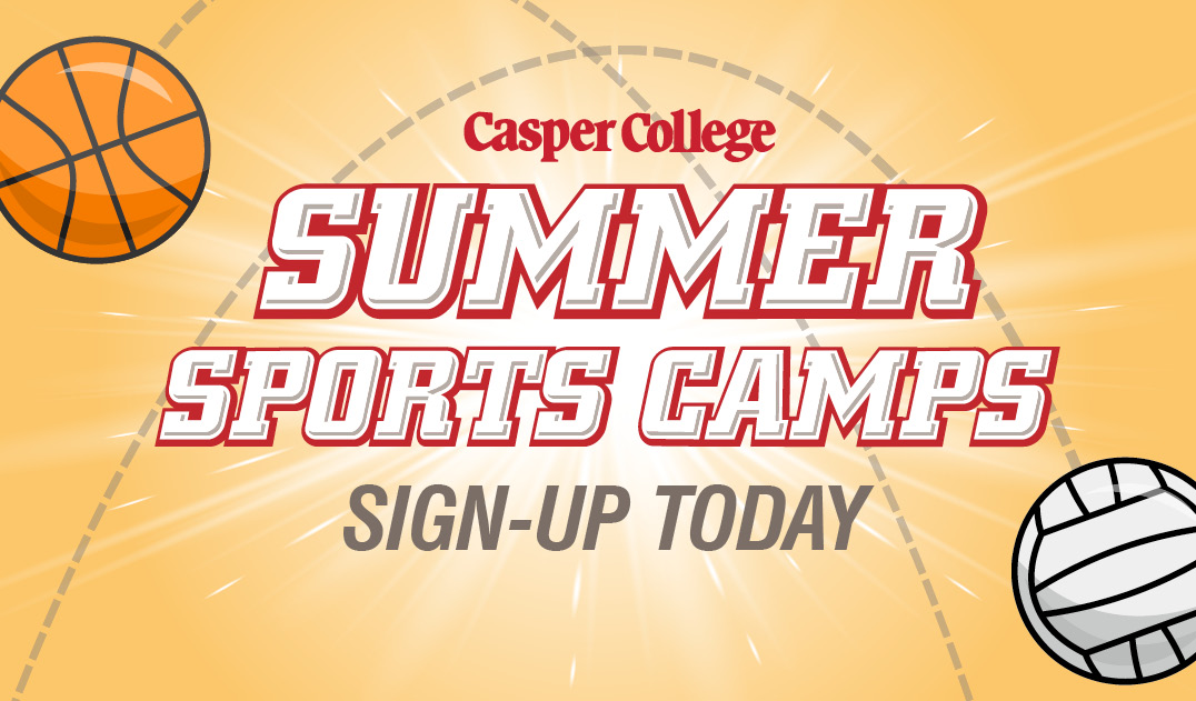 Summer sports camps sign-up today graphic