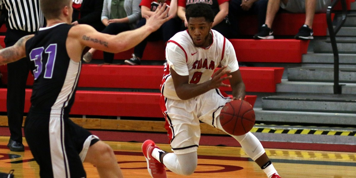 Jalen Thompson paces the Cardinals with 11 points, 7 rebounds, and 5 assists (Photo Courtesy of Dan Brieschke)