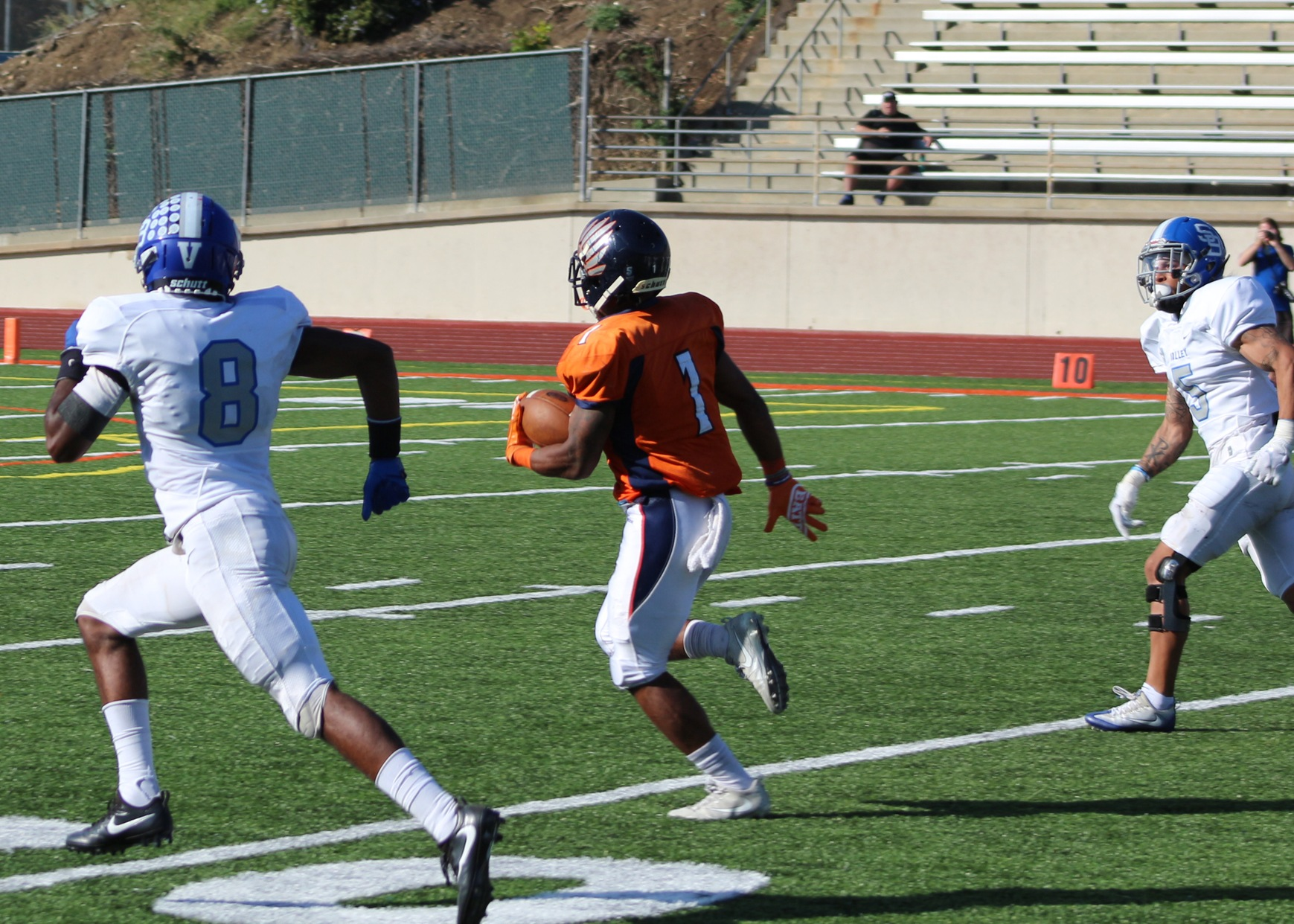 James Brown breaks downfield two weekends ago vs San Bernardino Valley. Image: Jesse Elrod