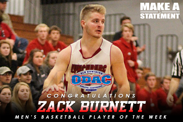 ODAC Player of the Week: Zack Burnett (1/23-1/30)