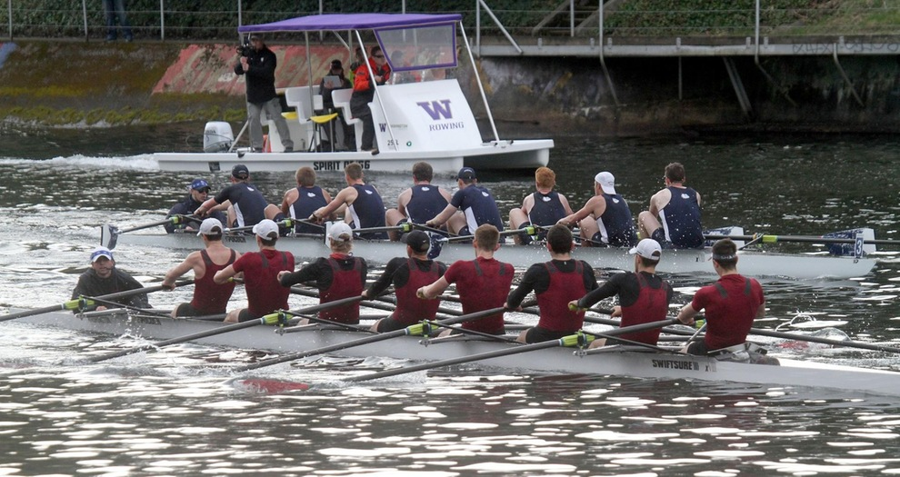 Men's Rowing Finishes Ahead of Gonzaga at Husky Open