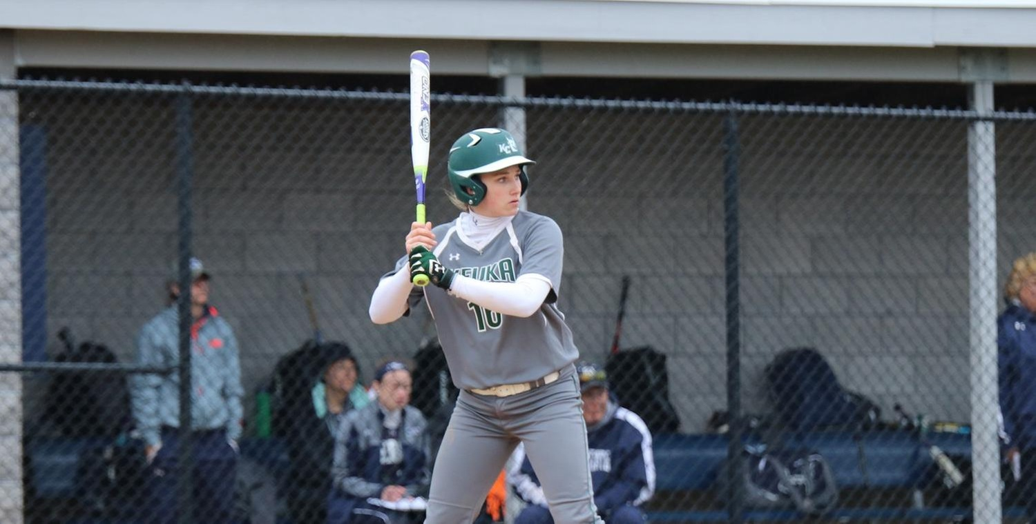 Alexa Brown (16) had 3 hits against Frostburg St. on Friday