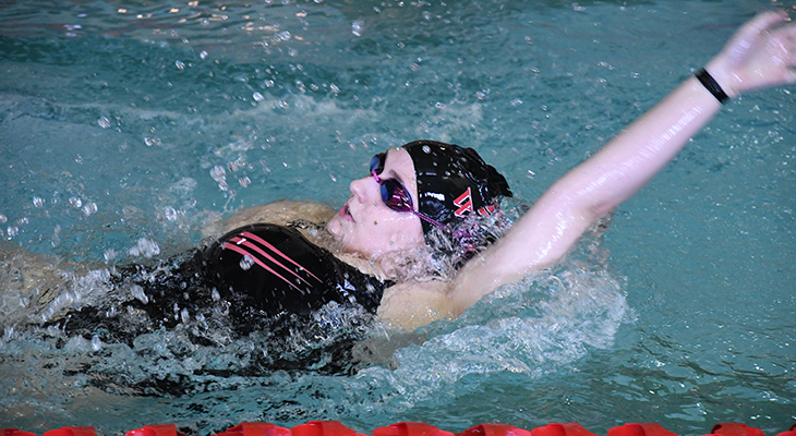 Strong Swims For Women's Swimming In Tri-Meet At Utica