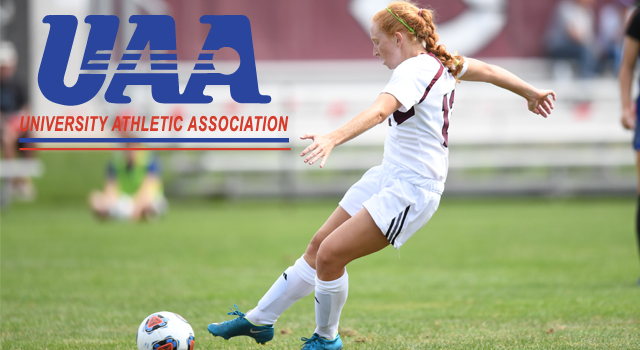 UAA Announces All-Association Women's Soccer Team; Jenna McKinney of Chicago Named Most Valuable Player
