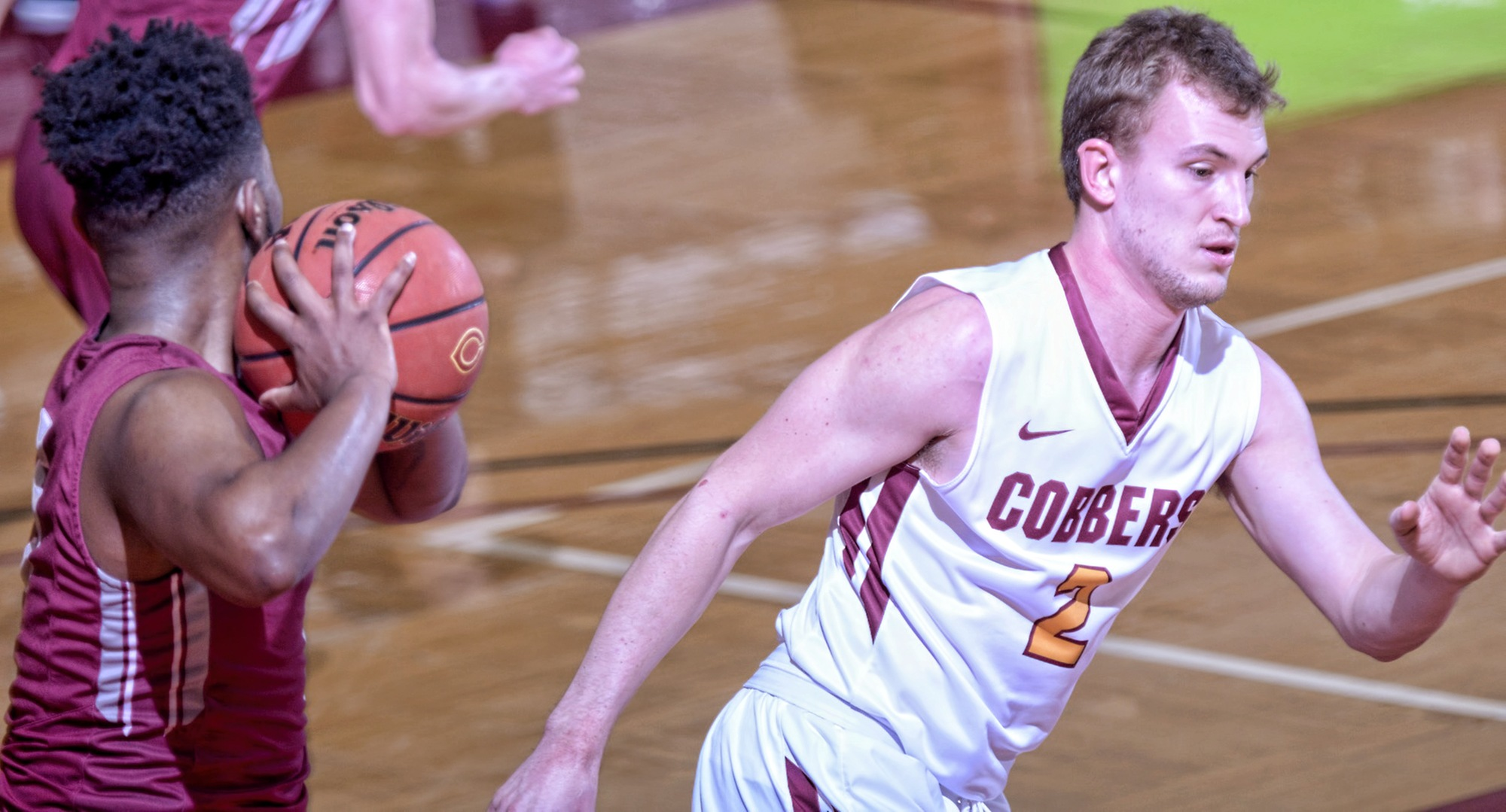 Senior Austin Rund tied his season high point total in the Cobbers' game at Hamline.
