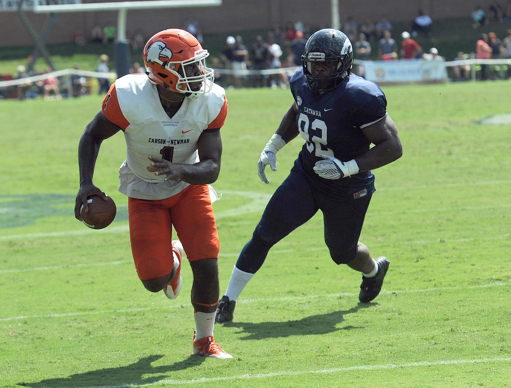 Turnovers doom Eagles to 40-20 loss to Catawba
