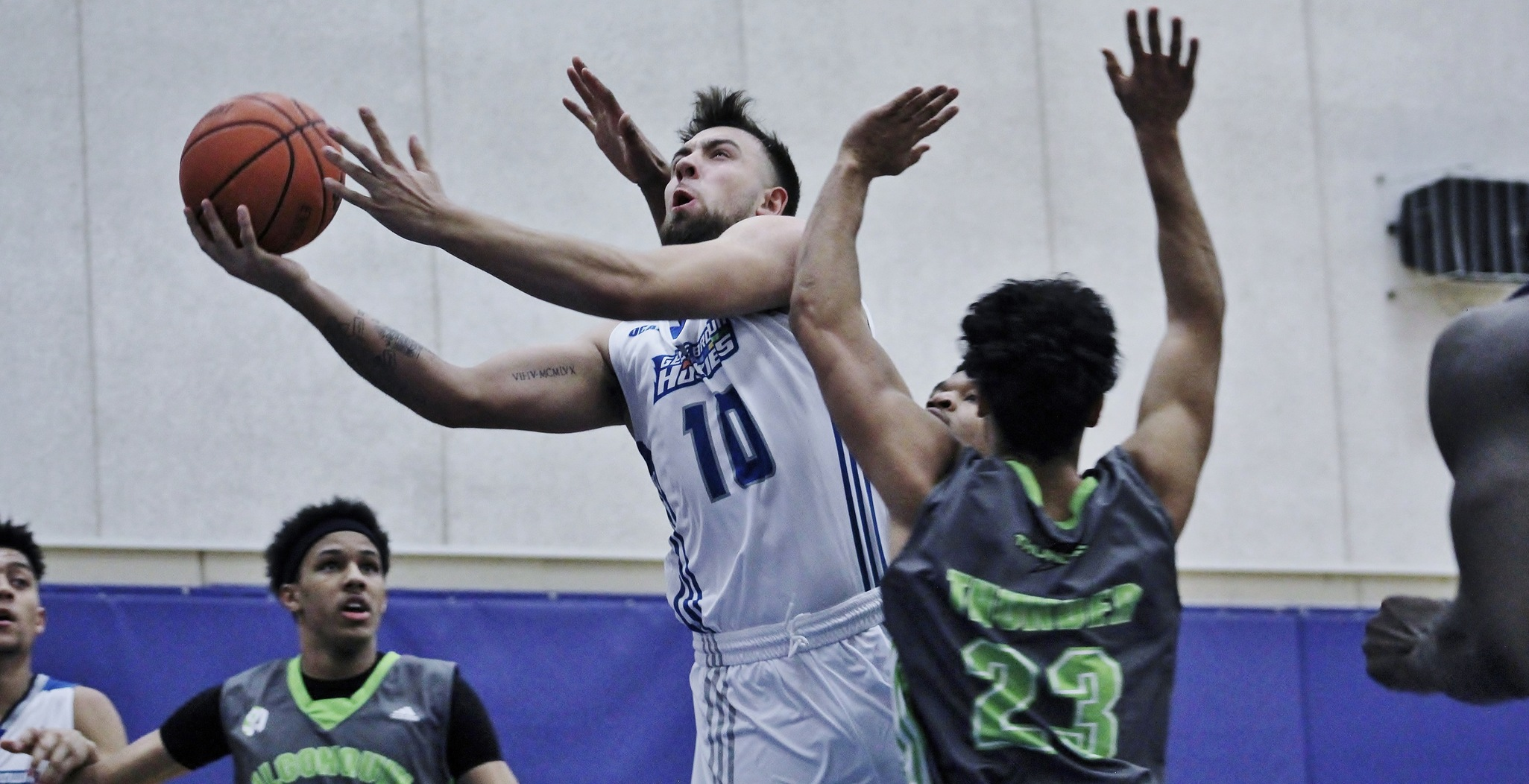 12-2 HUSKIES MEN'S BASKETBALL STAY PERFECT AT HOME WITH 97-80 WIN OVER ALGONQUIN