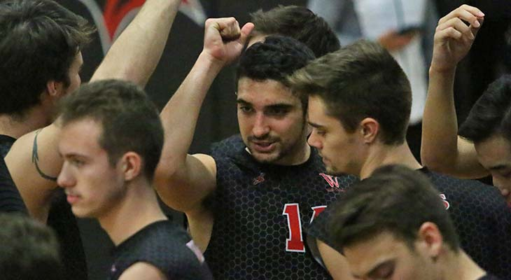 No. 6 Men's Volleyball Team Sweeps Pair of NEAC Opponents