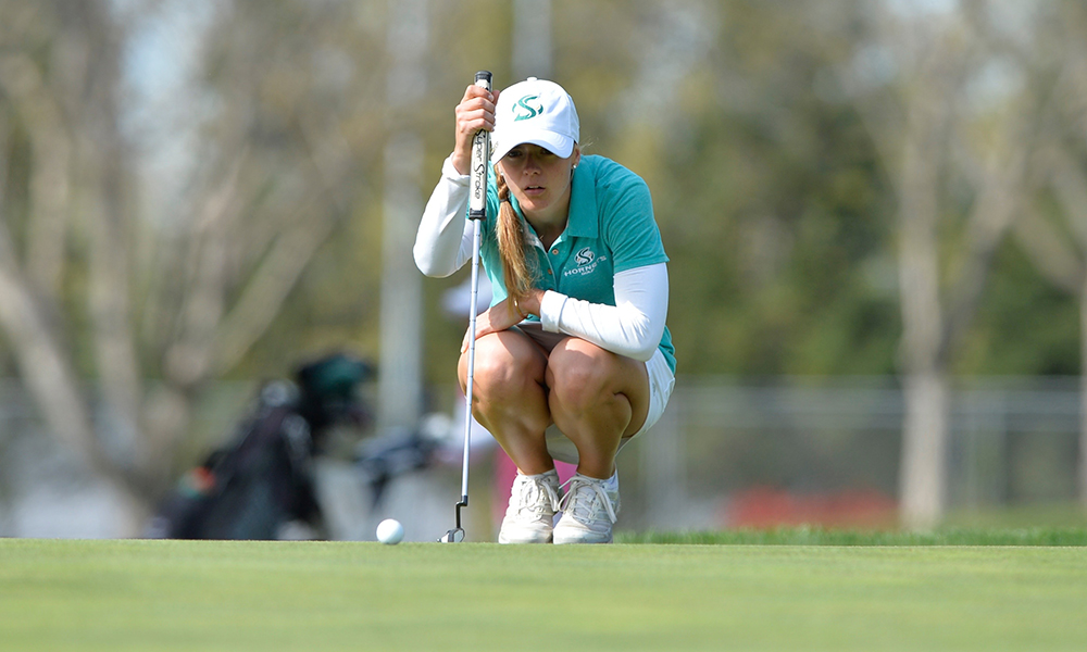 WOMEN'S GOLF SURGES INTO THE LEAD AT THE PRINCESS ANN INVITATIONAL