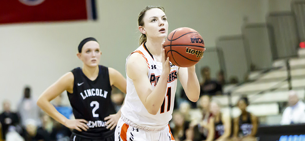 Pioneers fall 80-71 on road to Lincoln Memorial