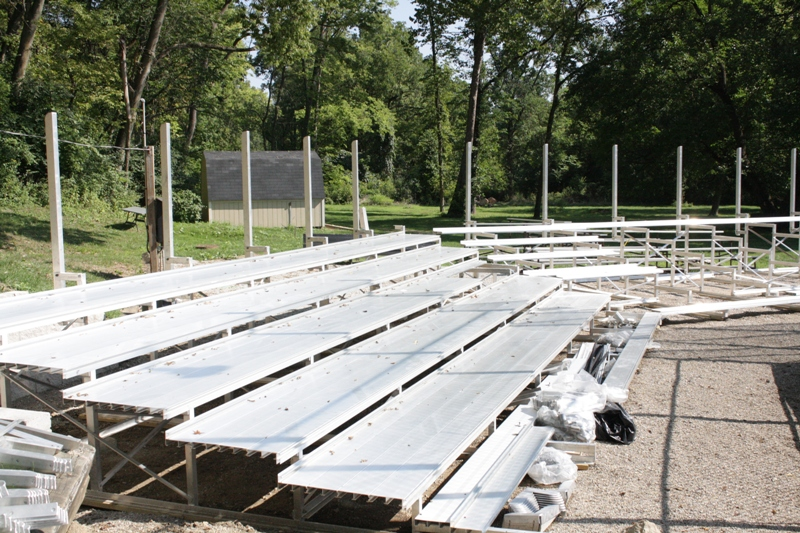 Baseball Bleacher Project Update (Photo Gallery)