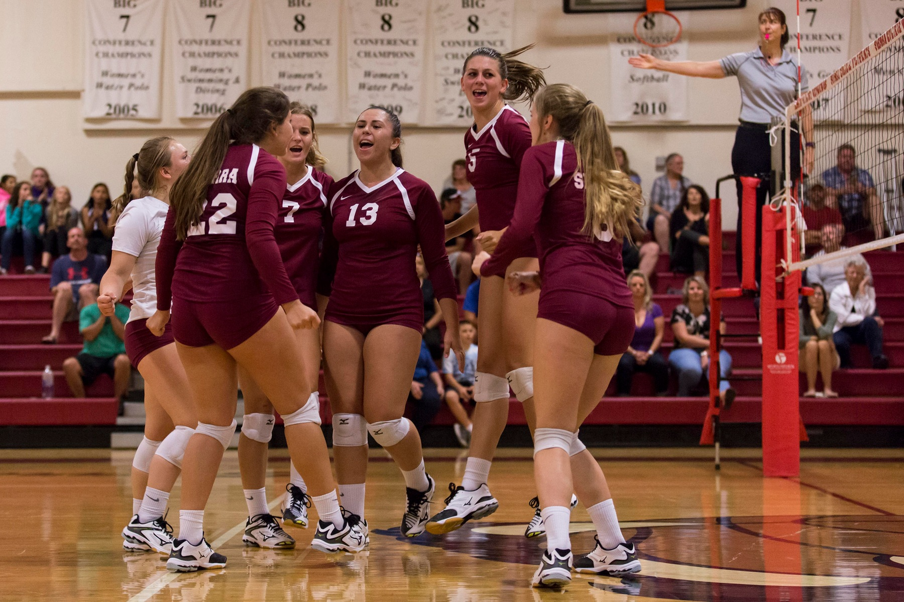 Sierra Women's Volleyball -- Image is from a previous match against ARC. (Photo by David Sanborn/Sierra College)