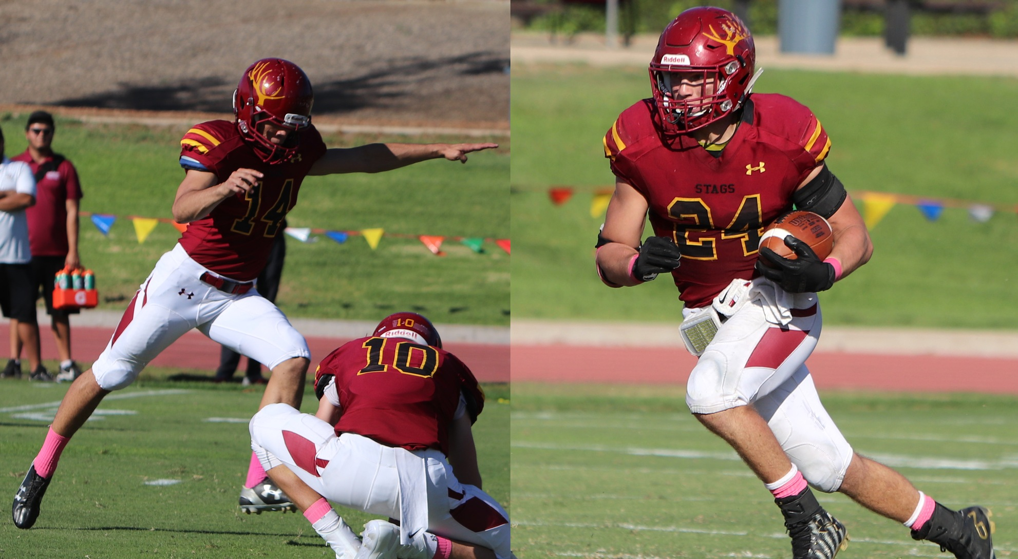 Maiuolo, Cheadle Win SCIAC Player of the Week Honors for CMS Football