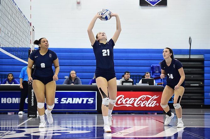 Behrend Volleyball Sweeps Pitt-Bradford