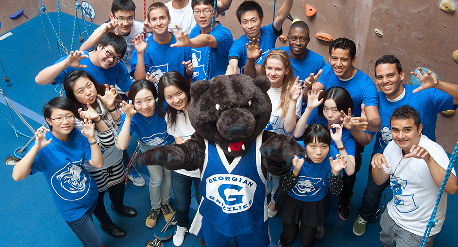 grizzly with students