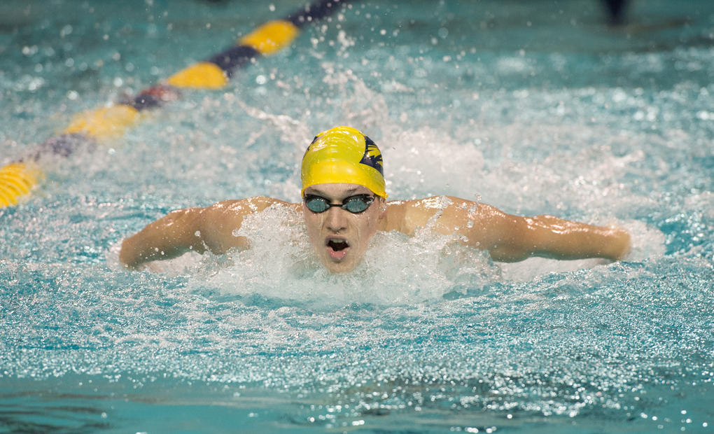 Emory Men's Swimming & Diving Post Six NCAA B Cut Times on Day One of Miami Invitational