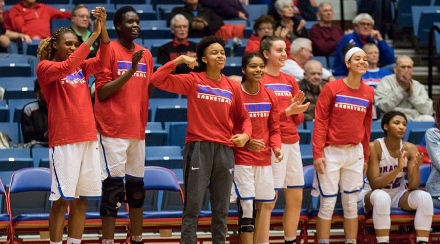 The No. 15 Blue Dragon women's basketball team goes after season win No. 20 on Sunday in a 2 p.m. game at Colby. (Allie Schweizer/Blue Dragon Sports Information)