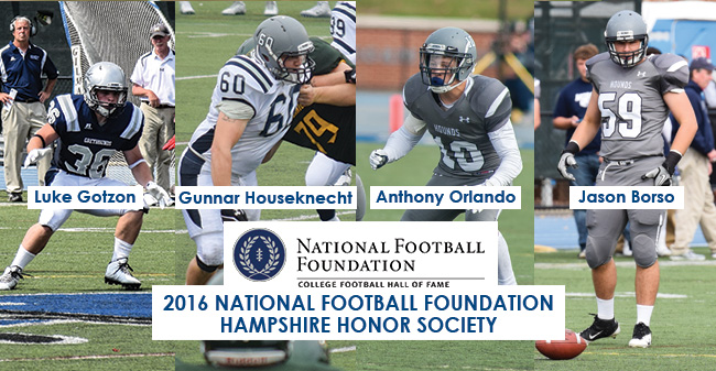Four Greyhounds Selected to National Football Foundation Hampshire Honor Society