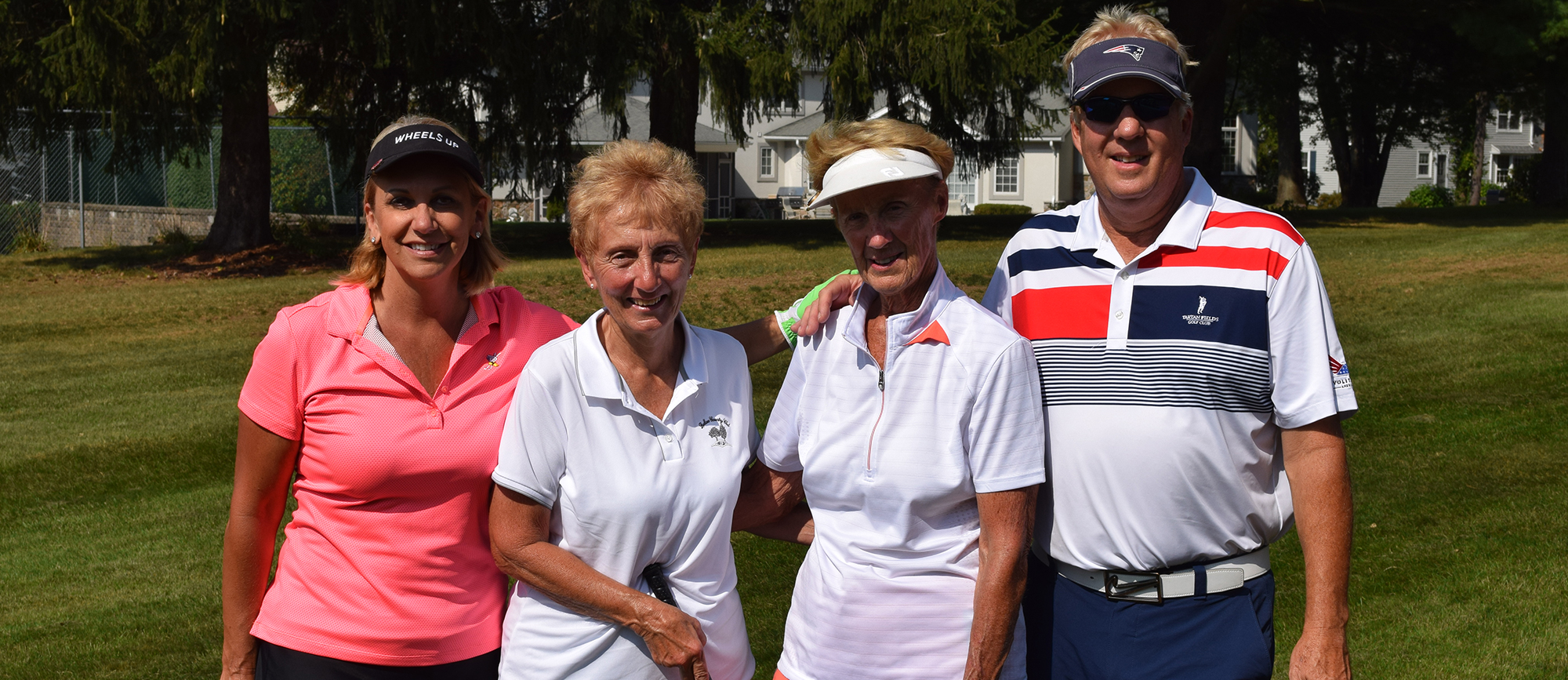 Newly inducted Downes Athletic Hall of Famers Lisa (left) and Bruce (right) Bachmann '83/G '90 were the Guests of Honor at Western New England's 19th Annual Golf Classic on Monday.