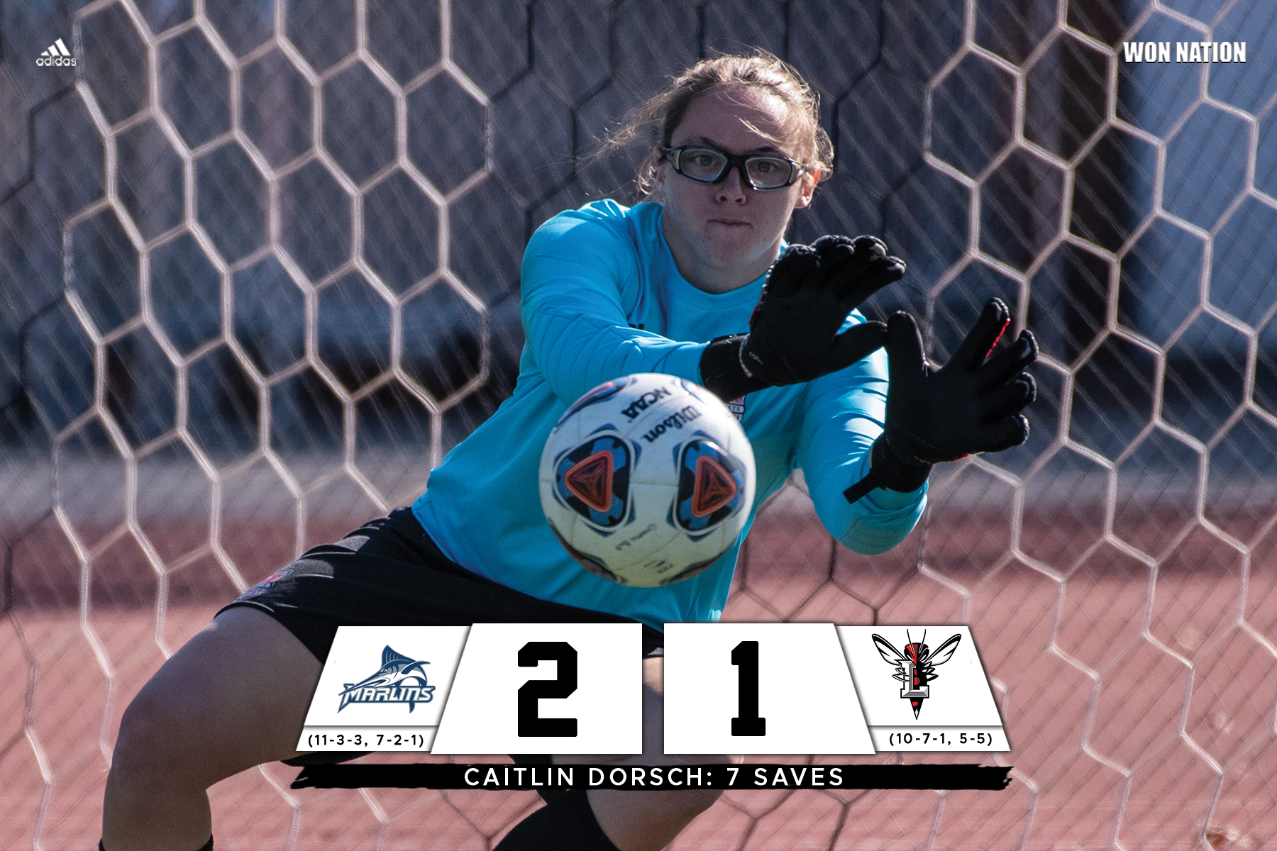 Women's soccer falls to Marlins on Senior Day
