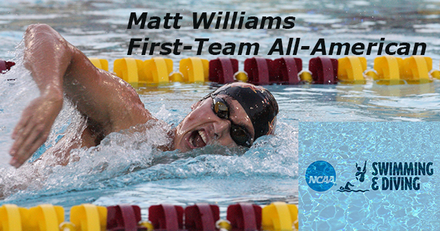 Matt Williams Earns All-American Honors For CMS