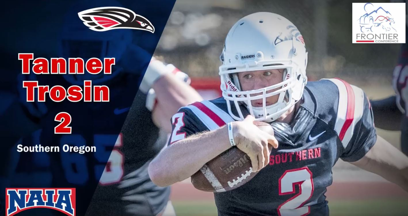 Tanner Trosin (jersey number 2), Southern Oregon, NAIA