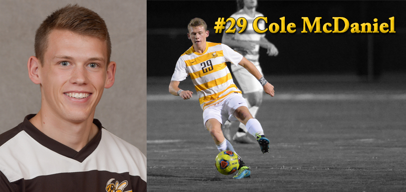 Sophomore forward Cole McDaniel