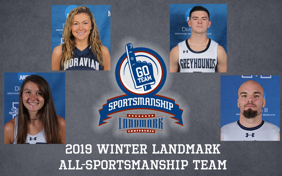 Will Brazukas, Karlie Brogan, Scott Goodwin and Marlee Hornbaker named to Landmark Conference Winter All-Sportsmanship Team.
