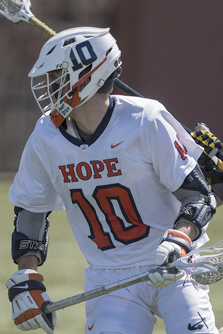 Gunnar Elder, Hope, Men's Lacrosse Offensive Player of the Week 4/17/17