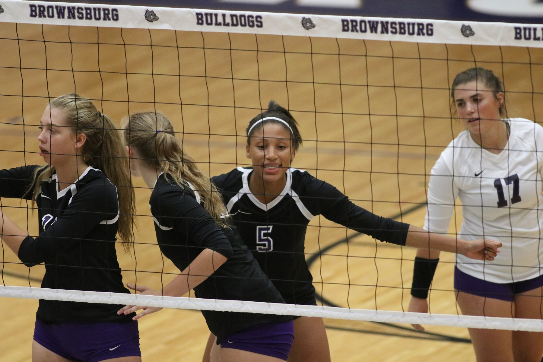 Volleyball Falls on the Road at Plainfield